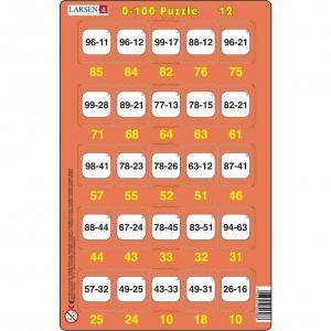 Set 16 Puzzle-uri 0 - 100, 25 Piese Larsen LRP4812