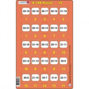 Set 16 Puzzle-uri 0 - 100, 25 Piese Larsen LRP4815