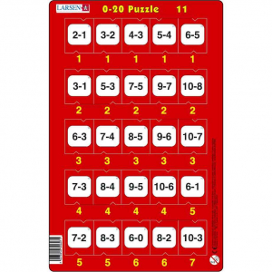Set 16 Puzzle-uri 0 - 20, 25 Piese Larsen LRP4711