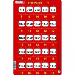 Set 16 Puzzle-uri 0 - 20, 25 Piese Larsen LRP474