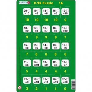 Set 16 Puzzle-uri 0 - 20, 25 Piese Larsen LRP4716