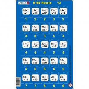 Set 16 Puzzle-uri 0 - 20, 25 Piese Larsen LRP4713