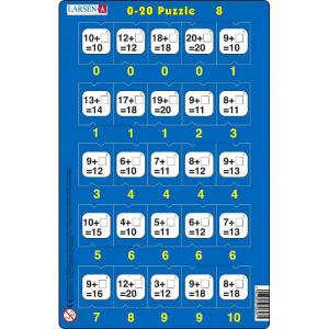 Set 16 Puzzle-uri 0 - 20, 25 Piese Larsen LRP478