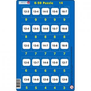 Set 16 Puzzle-uri 0 - 20, 25 Piese Larsen LRP4714