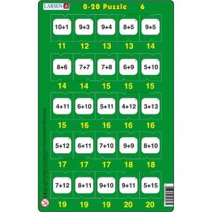 Set 16 Puzzle-uri 0 - 20, 25 Piese Larsen LRP476