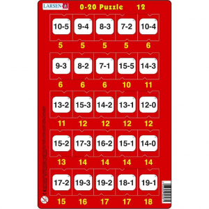 Set 16 Puzzle-uri 0 - 20, 25 Piese Larsen LRP4712