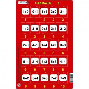Set 16 Puzzle-uri 0 - 20, 25 Piese Larsen LRP473