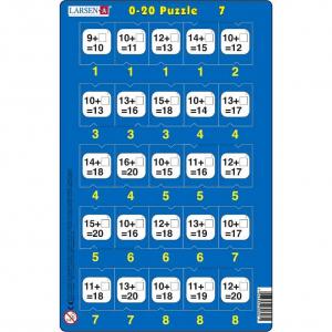 Set 16 Puzzle-uri 0 - 20, 25 Piese Larsen LRP477
