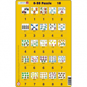 Set 16 Puzzle-uri 0 - 20, 25 Piese Larsen LRP4710