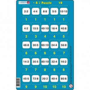 Set 16 Puzzle-uri Inmultire si Impartire, 25 Piese Larsen LRP4910