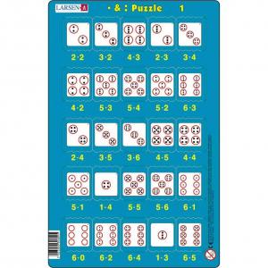 Set 16 Puzzle-uri Inmultire si Impartire, 25 Piese Larsen LRP491