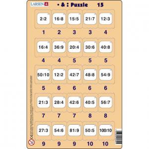 Set 16 Puzzle-uri Inmultire si Impartire, 25 Piese Larsen LRP4915