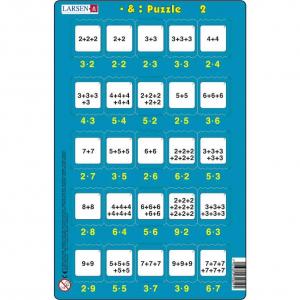 Set 16 Puzzle-uri Inmultire si Impartire, 25 Piese Larsen LRP492