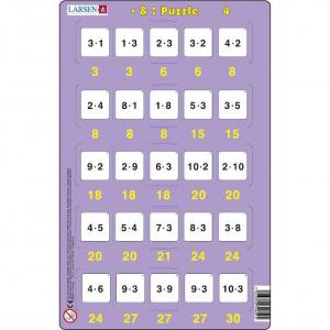 Set 16 Puzzle-uri Inmultire si Impartire, 25 Piese Larsen LRP494