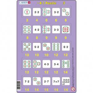 Set 16 Puzzle-uri Inmultire si Impartire, 25 Piese Larsen LRP493