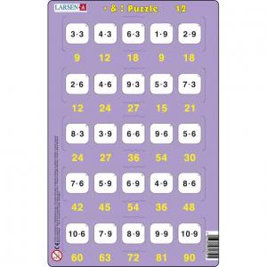 Set 16 Puzzle-uri Inmultire si Impartire, 25 Piese Larsen LRP4912