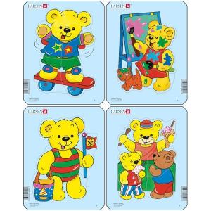 Set 4 Puzzle-uri Ursuleti, 5 piese Larsen LRY10