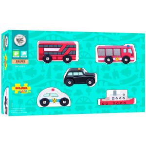 Set 5 vehicule din lemn1