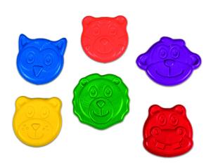 Set 6 creioane colorate - Animalute1