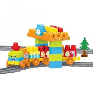 Set de constructii cu trenulet - 58 piese0