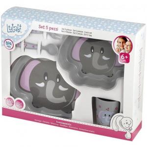 Set pentru masa 5 piese Elefant Lulabi 79729952