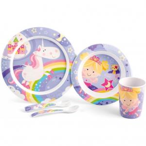 Set pentru masa melamina 5 piese Fairy Tales Lulabi 79452000