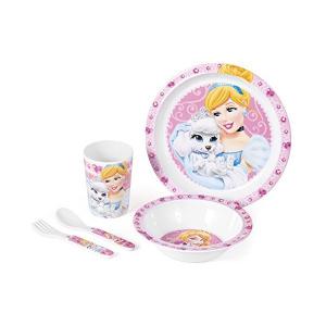 Set pentru masa melamina 5 piese Princess Pets Lulabi 92485000
