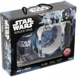 Set pentru masa melamina 5 piese Star Wars Rogue One Lulabi 83305003
