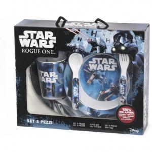 Set pentru masa melamina 5 piese Star Wars Rogue One Lulabi 83305002