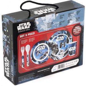 Set pentru masa melamina 5 piese Star Wars Rogue One Lulabi 83305004