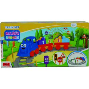 Set Tren 43 piese Magic Blocks Ucar Toys UC721