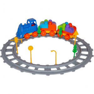 Set Tren 43 piese Magic Blocks Ucar Toys UC720