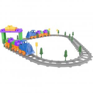 Set Tren 93 piese Magic Blocks Ucar Toys UC740