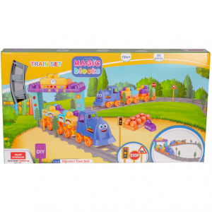 Set Tren 93 piese Magic Blocks Ucar Toys UC741