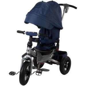 Tricicleta multifunctionala Little Tiger T400 - Sun Baby - Albastru0