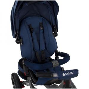Tricicleta multifunctionala Little Tiger T400 - Sun Baby - Albastru5