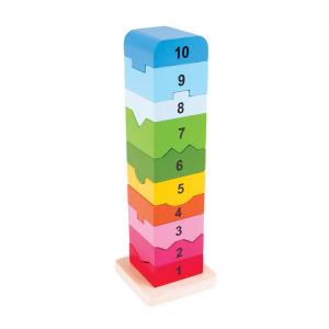 Turnulet din lemn cu numere [0]
