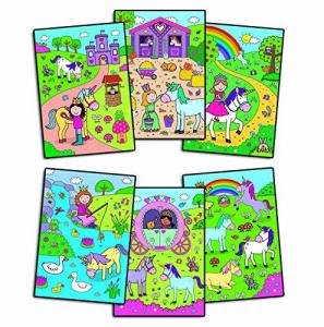 Water Magic: Carte de colorat Unicorni4