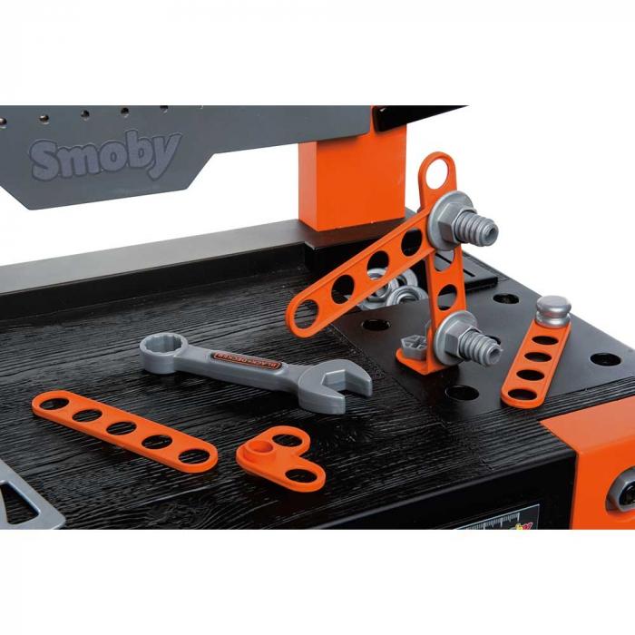 Atelier Smoby Black & Decker Bricolo One cu accesorii [5]