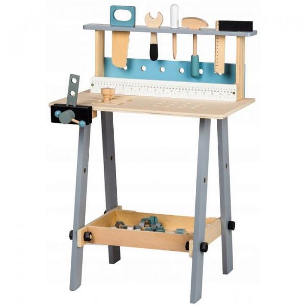 Banc de lucru cu unelte din lemn cu 32 de elemente Ecotoys 1172 [0]