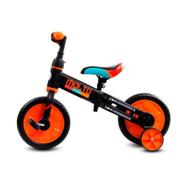 Bicicleta cu sau fara pedale si roti ajutatoare Sun Baby Molto 014 0