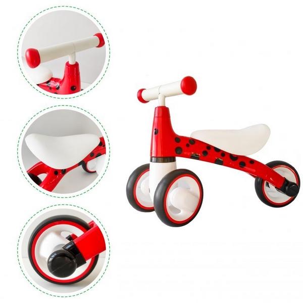Bicicleta fara pedale ECOTOYS Buburuza LB1603 - Rosu 5