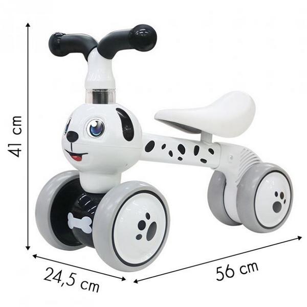Bicicleta fara pedale Ecotoys Catel LC-V1308 - Alb 5