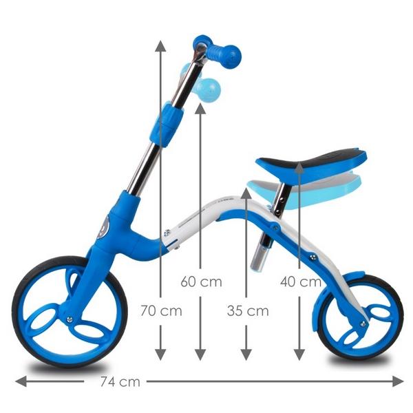 Bicicleta fara pedale/trotineta Sun Baby 007 EVO 360 PRO Blue 5