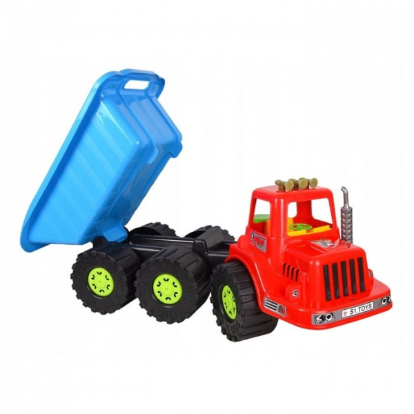 Camion pentru copii Marmat XXL, cabina rosie [0]