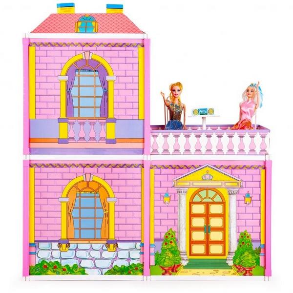 Casuta de papusi vila cu terasa Ecotoys 44192 2