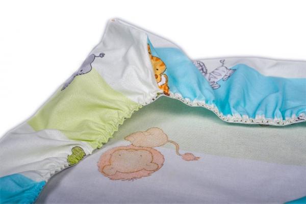 Cearceaf de pat cu elastic Amoras 100x100 1