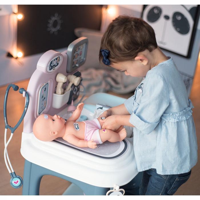 Centru de ingrijire pentru papusi Smoby Baby Care Center cu papusa si accesorii [20]
