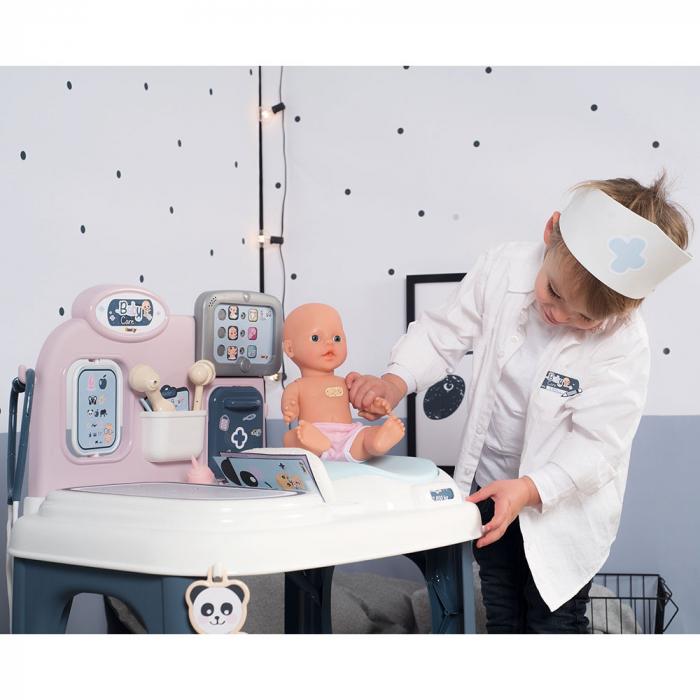 Centru de ingrijire pentru papusi Smoby Baby Care Center cu papusa si accesorii [15]