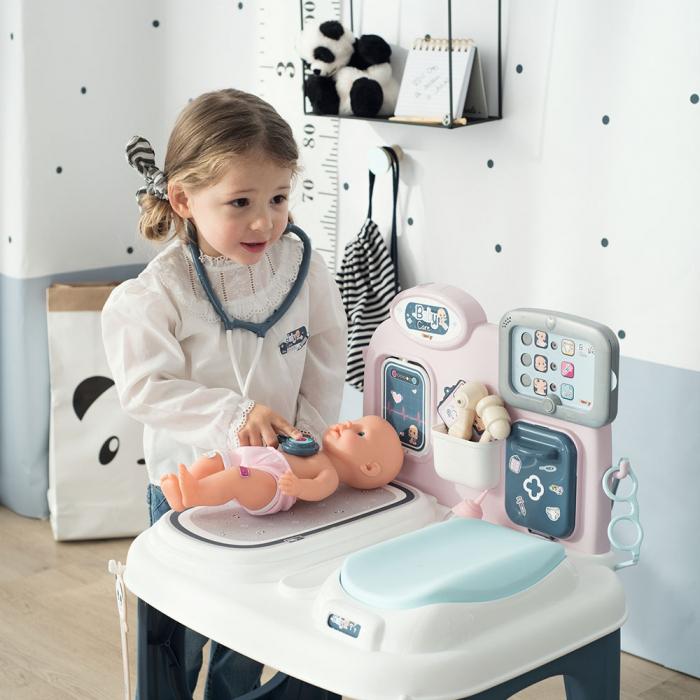 Centru de ingrijire pentru papusi Smoby Baby Care Center cu papusa si accesorii [9]